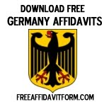 Free Germany Affidavit Form