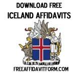 Free Iceland Affidavit Form