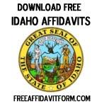Free Idaho Affidavit Form