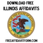 Free Illinois Affidavit Form