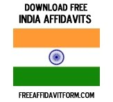 Free India Affidavit Forms