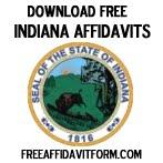 Free Indiana Affidavit Form