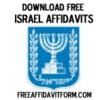 Free Israel Affidavit Form