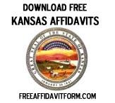 Free Kansas Affidavit Form