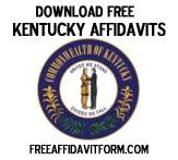 Free Kentucky Affidavit Form