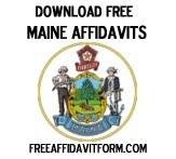 Free Maine Affidavit Form