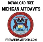 Free Michigan Affidavit Form