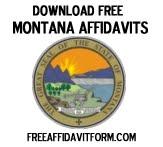 Free Montana Affidavit Form