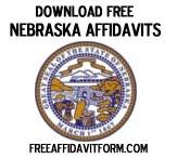 Free Nebraska Affidavit Form