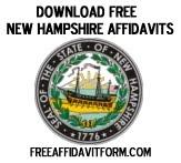 Free New Hampshire Affidavit Form