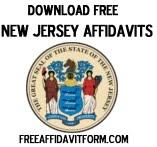 Free New Jersey Affidavit Form