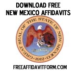 Free New Mexico Affidavit Form