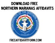 Free Northern Marianas Affidavit Form