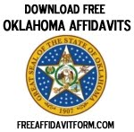 Free Oklahoma Affidavit Form