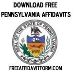 Free Pennsylvania Affidavit Form