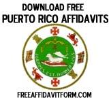 Free Puerto Rico Affidavit Form