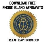Free Rhode Island Affidavit Form