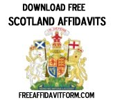 Free Scotland Affidavit Form