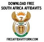 Free South Africa Affidavit Forms Free Affidavit Form