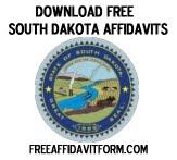 Free South Dakota Affidavit Form