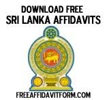Free Sri Lanka Affidavit Form