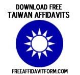 Free Taiwan Affidavit Form