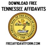 Free Tennessee Affidavit Form