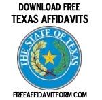 Free Texas Affidavit Form