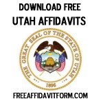 Free Utah Affidavit Form