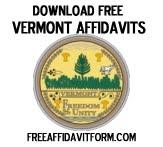 Free Vermont Affidavit Form