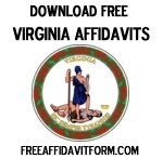 Free Virginia Affidavit Form