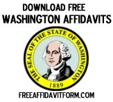 Free Washington State Affidavit Form