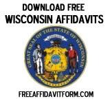 Free Wisconsin Affidavit Form