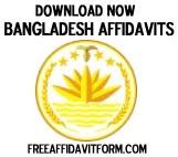 Free Bangladesh Affidavit Forms