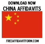 Free China Affidavit Forms