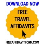 Free Affidavit Authorization for Minor to Travel Form