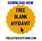 Free Blank Affidavit Form