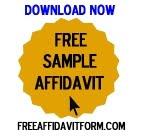 Free Sample Affidavit Form